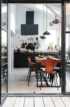 I truly want to move my pans out of the drawers and onto the wall. dustjacket attic: Industrial Style Kitchens