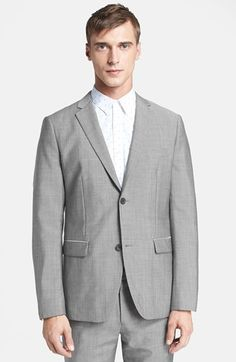 $575, Grey Blazer: Theory Rodolf Sportcoat. Sold by Nordstrom. Click for more info: http://lookastic.com/men/shop_items/69821/redirect