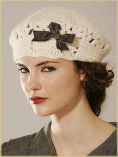 Crochet beret (no pattern)