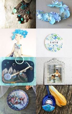 Inspiration in Blue by Silvia Paparella on Etsy--Pinned with TreasuryPin.com
