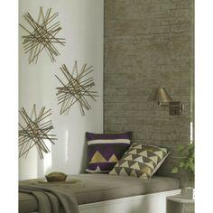 "Nate Berkus™ Decorative Pillow 18"" - Purple Triangles"