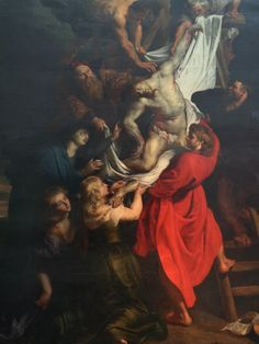 Sir Peter Paul Rubens - Detail of Christ descending from the cross.Antwerp Belgium.