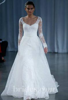 Monique Lhuillier - Fall 2013   Bridal Runway Shows   Wedding Dresses and Style   Brides.com : Brides