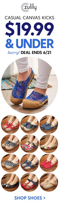 With charming canvas uppers and comfortable, espadrille-style soles, these fun shoes for women are sure to make a statement on casual days. Cute Shoes, Me Too Shoes, Cheap Designer Shoes, Glass Slipper, Music Festivals, Window Shopping, Comfortable Fashion, Shoe Shop, Clothing Styles