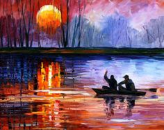 OIL ON CANVAS PAINTING DIRECTLY FROM FAMOUS ARTIST LEONID AFREMOV  Title: Far And Away Size: 30 x 30 inches (75 cm x 75 cm) Condition: Excellent Brand new Gallery Estimated Value: $3,500 Type: Original Recreation Oil Painting on Canvas by Palette Knife  This is a recreation of a piece which was already sold.  The recreation is 100% hand painted by Leonid Afremov using oil paint, canvas and palette knife.  Its not an identical copy , its a recreation of an old subject. This recreation will…