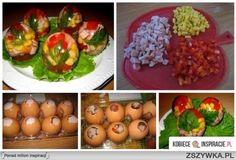 Fantasie eieren: salade-eieren