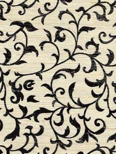 Type: Wallpaper   Pattern Name: ASIAN SCROLL   Pattern Number: TROP27  Book Name: Tropicale Wallcoverings