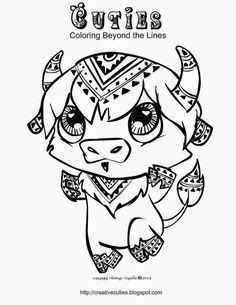 Creative Cuties Buffalo Coloring Page