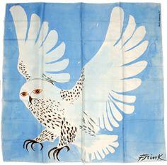 Elisabeth Frink (1930-1993) scarf Bird Design, Design Art, Elisabeth Frink, Bird Puppet, Owl Scarf, Nocturnal Birds, Classic Paintings, Snowy Owl, Artist Art