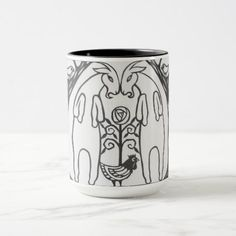 Butting Goats Travel Mug - black and white gifts unique special b&w style Goat Art, Small Farm, Reno, Black Paper, Public Art, Mosaic Art, Adulting, Cool Places To Visit, Travel Mug