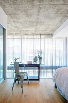 Concrete wallpaper on ceiling?  contemporary bedroom by Andrew Snow Photography