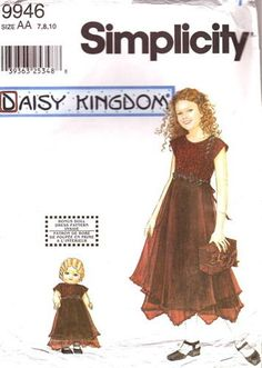 Communion Dress Pattern - Simplicity Pattern 9946 Daisy Kingdom Girls Pretty ... | Clothing, Shoes & Accessories, Wedding & Formal Occasion, Girls' Formal Occasion | eBay!