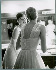 Audrey Hepburn and Grace Kelly