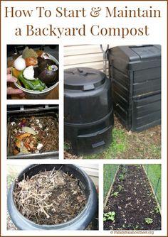 How to Start & Maintain a Backyard Compost   @ FamilyBalanceSheet.org