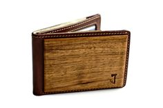 A wood accented bifold wallet ... I urgently need to change a couple of mine, so this is a unique contender ...