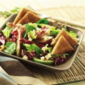 Bacon, Apple and Pear Salad with Warm Spiced Cider Vinaigrette
