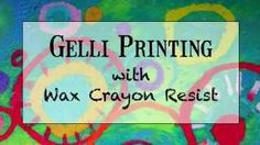 gelli printing with masking fluid - YouTube