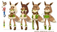 Eevee Custom Doll Concept art by Dollightful