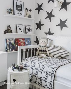 We all know how difficult it is to decorate a kids bedroom. A special place for any type of kid, this Shop The Look will get you all the kid's bedroom decor ide Boys Bedroom Decor, Childrens Room Decor, Cozy Bedroom, Girls Bedroom, Childrens Bedrooms Boys, 5 Year Old Boys Bedroom, Trendy Bedroom, Bedroom Storage, Boys Star Bedroom