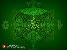 Celtic Knots Photoshop Brushes set #digiscrap #craft #photoshop #graphic #celtic #irish #illustration $9.00