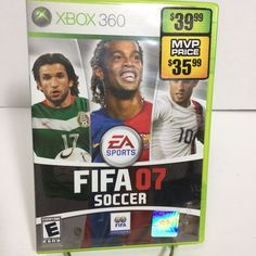 FIFA 07 Soccer Microsoft Xbox 360 Video Game 2006 Multiplayer Online Team Ups #EA