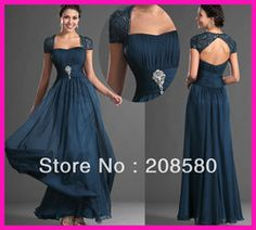 Online Shop 2014 New Arrival Cap Sleeve Crystal Backless Long Formal Mother of the Bride Dresses Plus Size M1771 Aliexpress Mobile