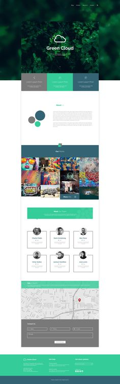 Green Cloud home page inspiration on Behance