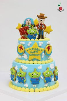 Toy Story Cake Icing Cookies