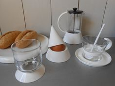 Vintage 1980s BODUM Breakfast set in white. by FranzsFavorites