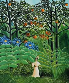 Henri Rousseau / painted forest art