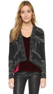 Velvet Embellished Chiffon Jacket | SHOPBOP