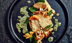 Mccradys, Sean Brock. grouper with roasted and pickled squash