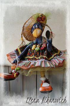 Diy And Crafts, Arts And Crafts, Felt Embroidery, Waldorf Dolls, Beatrix Potter, Soft Dolls, Handmade Toys, Bird Feathers, Kraken