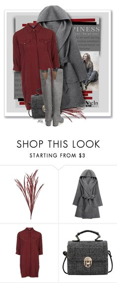 """Grey Coat"" by fashion-architect-style ❤ liked on Polyvore featuring WithChic, Topshop and Sam Edelman"
