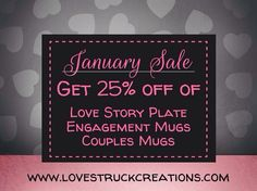 To start the new year off, here's our January sale at both our online store & Etsy shop! *discounts are applied automatically at both shops*  www.lovestruckcreations.com www.etsy.com/shop/lovestruckcreations