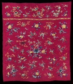 Curtain or coverlet top | Museum of Fine Arts, Boston. Chinese, Qing dynasty, 1870–80
