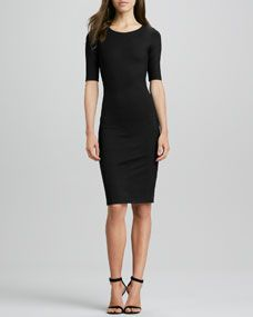 Raquel Half-Sleeve Knit Sheath Dress I need one of these for work
