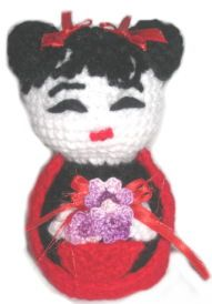 How to make Amigurumi - Geisha Doll - DIY Craft Project with instructions from Craftbits.com