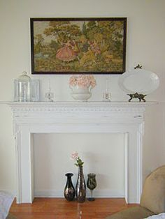 would love to have even a 'fake' fireplace at home :) Fake Fireplace, Bedroom Fireplace, Fireplace Ideas, Tiffany Bedroom, Living Styles, Entryway Tables, Diy Projects, House Design, House Inspirations