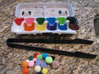 Ramblings of a Crazy Woman: Pre School Egg Carton color match  Game