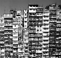 view of Kowloon Walled City, Hong Kong, 1990