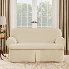 Sure Fit Cotton Duck T-Cushion Sofa Cover - About Sure FitSurefit Inc. is widely known for its attractive, quality furniture covers, slipcovers and decorative accessories. The success of. Sectional Sofa Slipcovers, Loveseat Recliners, Loveseat Covers, Furniture Slipcovers, Slipcovers For Chairs, Cushions On Sofa, Couch Sofa, Sofas, Recliner Cover