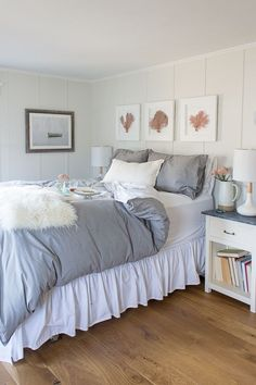Cozy  Coastal Bedroom with Breakfast in Bed I Finding Silver Pennies
