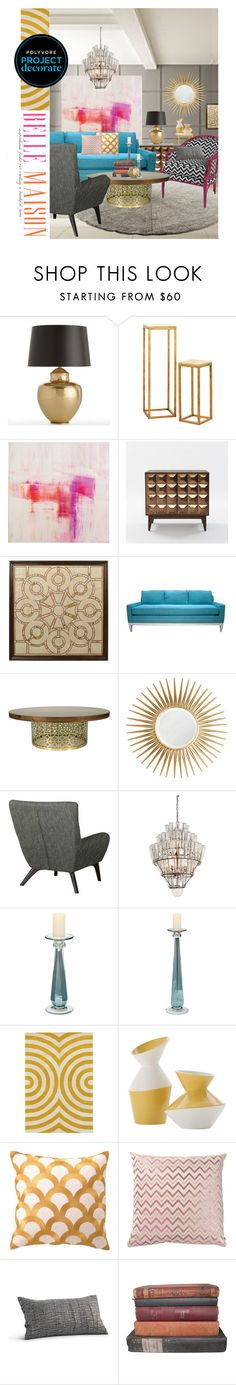 """California Glamour with Belle Maison"" by rotunda ❤ liked on Polyvore featuring interior, interiors, interior design, home, home decor, interior decorating, Arteriors, West Elm, WALL and Jonathan Adler"