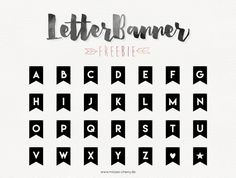 Misses Cherry: black & white Letterbanner Freebie