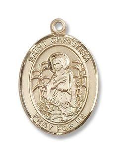 14kt Gold St. Christina the Astonishing Medal | GlobalFeri.com Fine and Fashion Jewelry