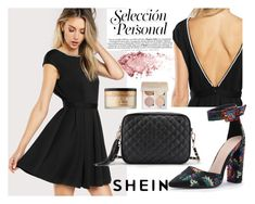 """SHEIN Peal Open Back Dress"" by decor4 ❤ liked on Polyvore featuring Too Faced Cosmetics"