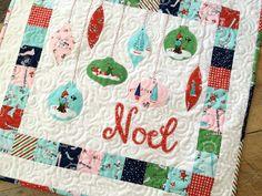 Lovely quilt pattern featuring Tasha Noel's Pixie Noel fabric line #iloverileyblake #fabricismyfun