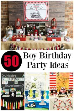 50 of the BEST Boy Birthday Party Ideas