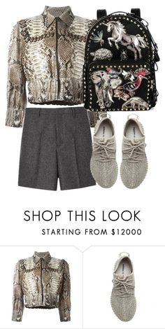 """Simply short and fendi jacket"" by hugohsm ❤ liked on Polyvore featuring Fendi, adidas Originals and Valentino"